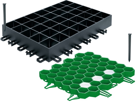 RECYFIX GREEN turf honeycomb | Infiltration of rainwater
